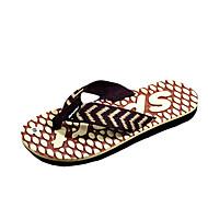 Herre-PU-Flat hæl-Lette såler-Tøfler og flip-flops-Friluft Fritid-Svart Blå Gul