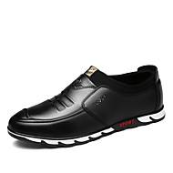Herre-PU-Flat hæl-Komfort-Oxfords-Fritid-Svart Blå Brun