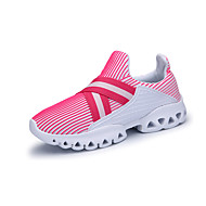 Women's Athletic Shoes Spring Fall Comfort Tulle Casual Flat Heel Lace-up Black Red Gray Running