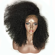 Top Sales 200% Density Black Color Wigs Kinky Curly Synthetic Lace Front Wig Glueless Heat Resistant Female Curly Hair