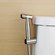 Bidet Faucets  ,  Traditional  with  Stainless Steel Single Handle One Hole  ,  Feature  for Wall Mount Pull out