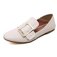 Dame-PU-Flat hælFlate sko-Friluft Formell Fritid-Svart Mandel