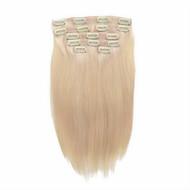 7 kpl / set # 60 Platium vaaleita tuhka blondi leikkeen hiusten pidennykset 14 tuuman 18inch 100% hiuksista