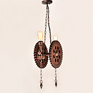 Vintage Wood Gear Pendant Lights Loft Creative Industrial Lamp American Style For Living Room Restaurant Bars Clothing Store decoration Light Fixture