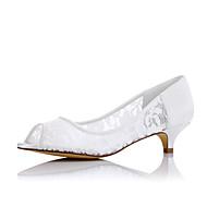 Tekstil-Lav hæl-Komfort-Flate sko-Bryllup Formell Fest/aften-Hvit