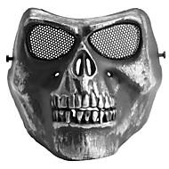 Respirar Máscara Trilha Campismo Tático Durável Protecção metal Preto