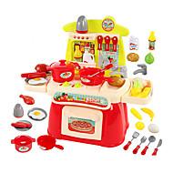 Kids 'Cooking Appliances Modelbouw & constructiespeelgoed Speeltjes LED-verlichting Geluid Speeltjes ABS Zilver Orange Voor meisjes