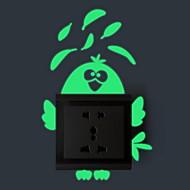 Cartoon Design Wand-Sticker Leuchtende Wand Sticker Lichtschalter Sticker,Vinyl Stoff Haus Dekoration Wandtattoo