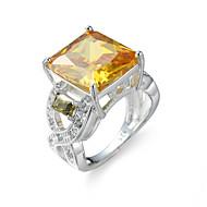 Prsten Zaručnički prsten Kubični Zirconia Elegantno luksuzni nakit Zircon Kubični Zirconia Čelik imitacija Diamond Square Shape