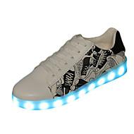 Damen Sneaker Komfort Leuchtende LED-Schuhe PU Frühling Sommer Normal Komfort Leuchtende LED-Schuhe Flacher AbsatzPurpur Rosa Leicht Grün