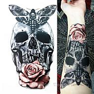 1 Tatuointitarrat Eläinsarja Toteemisarja Waterproof 3-DNaisten Miesten Teini Flash Tattoo väliaikaiset tatuoinnit