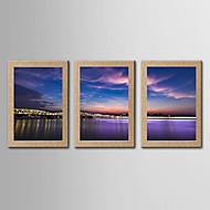 Giclee Print Kuuluisa Maisema Classic Realismi,3 paneeli Pysty Panoramic Tulosta Art Wall Decor For Kodinsisustus
