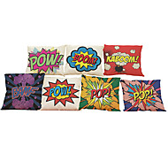 Set of 7 Pop art style Linen Pillowcase Sofa Home Decor Cushion Cover