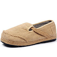 Loafers & Slip-Ons Spring Summer Fall Winter Espadrilles Linen Outdoor Office & Career Casual Braided Strap Beige