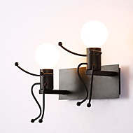 Robot shape Vintage Metal Industrial Loft Rustic Wall Sconce Bar Cafe  Entry Hallway Wall Lamp Black White Optional