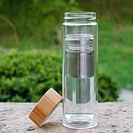 クリア コップ, 600 ml ろ過できます 保温処理 二重壁 グラス 茶色 ウォーター ウォーターボトル