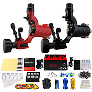 Solong Tattoo Complete Tattoo Kit 2 Pro Machines 14 Inks Power Supply Foot Pedal Needles Grips Tips TK249