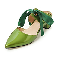 High Heels-Büro Kleid Lässig-maßgeschneiderte Werkstoffe Spandex-Niedriger Absatz-Komfort Neuheit Club-Schuhe-Schwarz Grün Rosa Rot Weiß