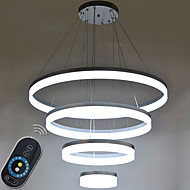 Dimmable Acrylic Chandeliers LED Ring Pendant Light Lamp Lighting Fixtures with Living room AC100 to 240v CE FCC ROHS