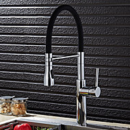 Contemporary Brass Chrome Finish Kitchen Sink Faucet - Black / Green / Orange