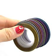 1set 12rolls Nail Art matrica Műköröm díszek smink Kozmetika Nail Art Design