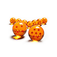 Anime Action Figures Inspired by Dragon Ball Crystal Set Collection of 7Pcs 7 Stars Cosplay Anime Cosplay Accessories Figure Orange PVC Male / Female