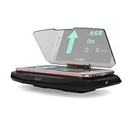 ziqiao carro universal gps carregador sem fio HUD cabeça-up display titular fotc padrão qi para iphone montagem 5 6 7 mais navegação do