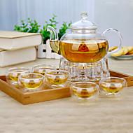8 osainen puku ilmakehän perheviihdettä lasi teeastiasto teekannu
