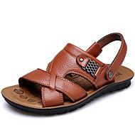 Miehet Sandaalit Comfort Nahka Kevät Kesä Syksy Kausaliteetti Puku Vesikengät Comfort Tumman ruskea 1-1,75in