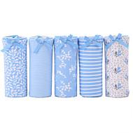5 Pcs/Lot Women's Cute Print Underwear Seamless Striped Panties Cotton Spandex Briefs