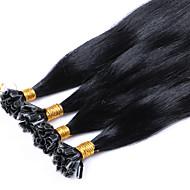 keratyny u przechylić brazylijski włosy 1 grama każda nić paznokci Fusion końcówka ludzkie przedłużanie włosów wstępnie połączone prostą