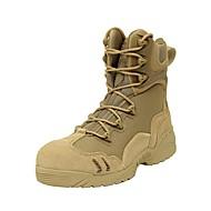 Kényelmes Boka pántos-Alacsony-Női cipő-Csizmák-Szabadidős Alkalmi-Bőr-Fekete Khaki