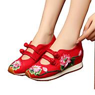 Naiset Oxford-kengät Comfort Uutuus Brodeerattu kengät Canvas Kevät Kesä Syksy Talvi Urheilullinen Kausaliteetti KävelyComfort Uutuus