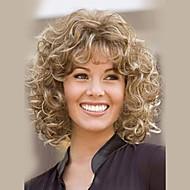 modne ombre sexy średnio kręcone blond capless ludzki włos peruka peruki ludzkich włosów dla kobiet 2017