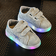 Baby Sneakers Spring Summer Fall First Walkers Leather Outdoor Casual Athletic Low Heel LED Gray Dark Grey Pink Walking