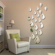 מראות צורות אבסטרקט מדבקות קיר מדבקות קיר קריסטל מדבקות קיר מראות מדבקות קיר דקורטיביות,ויניל חוֹמֶר קישוט הבית מדבקות קיר