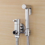 Bidet Faucets  ,  Traditional  with  Chrome Single Handle One Hole  ,  Feature  for Wall Mount Pull out