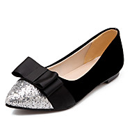 Damen-Flache Schuhe-Büro Kleid Party & Festivität-Kunststoff PU-Flacher AbsatzSchwarz Rot