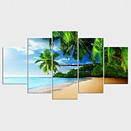 Kwiatowy/Roślinny Styl Nowoczesny,Pięć paneli Płótno Wszelkie Kształt Art Print wall Decor For Dekoracja domowa