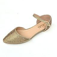 여성의 발 뒤꿈치 봄 여름 클럽 신발 새로운 인조 가죽 웨딩 콘 힐 라인 스톤