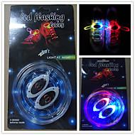 dentelle brillante avec lacets flash LED colorées chaussures de sport de dentelle lumineux hommes et femmes de couleur fluorescentes