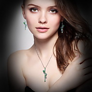Necklace Crystal Pendant Necklaces Jewelry Daily Casual  Basic Design Dangling Style   Crystal 1pc Gift