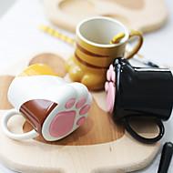 ノベルティカップ、グラス、270ミリリットルの装飾かわいいセラミック猫の足の形のコーヒージュースコーヒーマグ