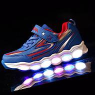 Sneaker-Sportlich-PU-Flacher Absatz-Komfort-Blau Grün Rot Hellblau