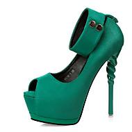 Черный Зеленый Розовый Серый БордовыйДля праздника-Флис-На шпильке-клуб Обувь-Обувь на каблуках