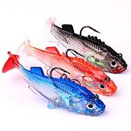 Lot 3pcs 7.6cm Fish Lure Imitation Fishing Bait Tackle Bass Hook 15.7g