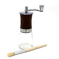 # ml Rustfritt stål Glass Kaffekvern , Brew Coffee Maker Manuell Gjenanvendelige