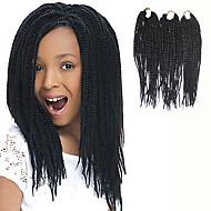 Senegal Tranças torção Extensões de cabelo 12Inch Kanikalon 81 Strands costa 125g grama Tranças de cabelo