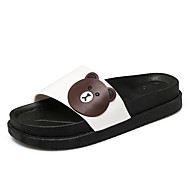 Slippers & Flip-Flops Spring Summer Fall Creepers Light Soles Leatherette Outdoor Dress Casual Creepers Applique Split Joint Black White