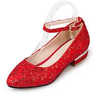 Γυναικεία παπούτσια-Χωρίς Τακούνι-Γραφείο & Δουλειά Φόρεμα Πάρτι & Βραδινή Έξοδος-Επίπεδο Τακούνι-Παπούτσια club-Συνθετικό-Κόκκινο Άσπρο